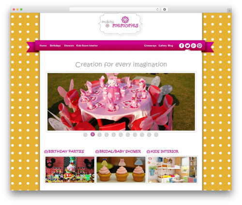 Executive Child Theme WordPress theme design - makingmemories.com.pk