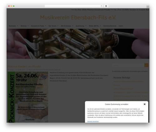 ForeverWood best free WordPress theme - musikverein-ebersbach.de