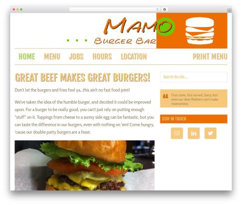 Magazine Pro Theme theme WordPress - mamoburgerbar.com