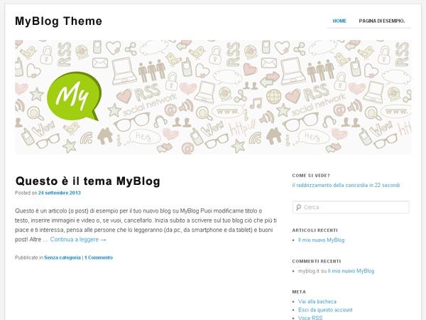 MyBlog.it WordPress blog theme