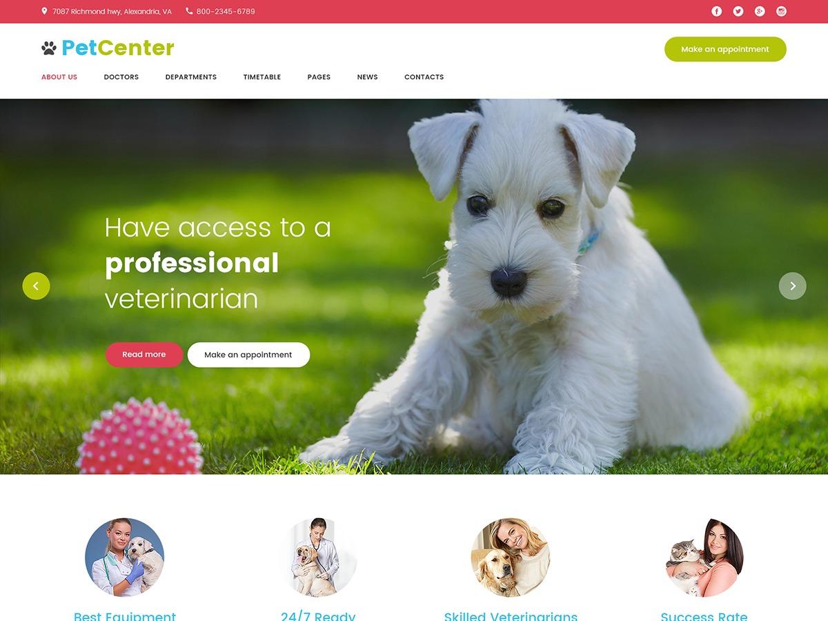 PetCenter WordPress theme