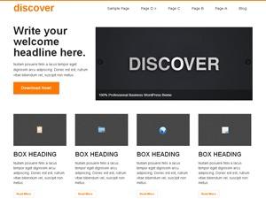 WordPress website template Discover Child