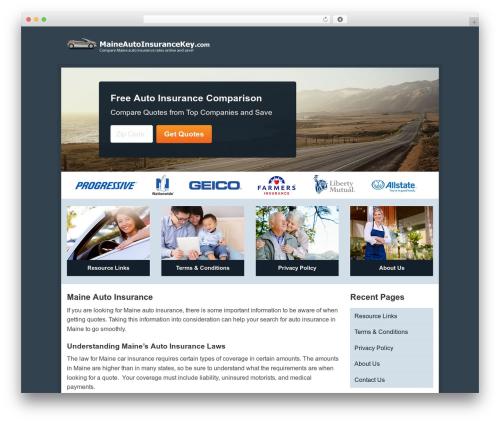 Aperture best free WordPress theme - maineautoinsurancekey.com
