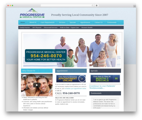 Associate Child Theme medical WordPress theme - mymedical-center.com