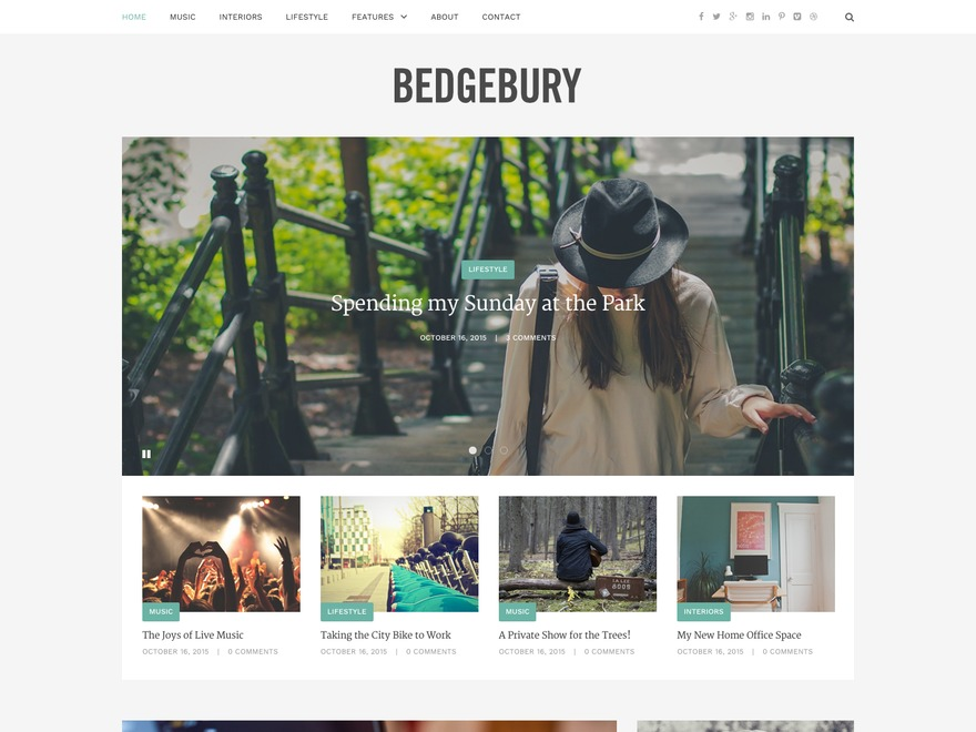 Bedgebury WordPress blog template