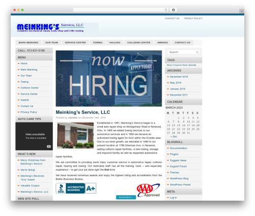 Blue News best WordPress theme - meinkingservice.com/wp