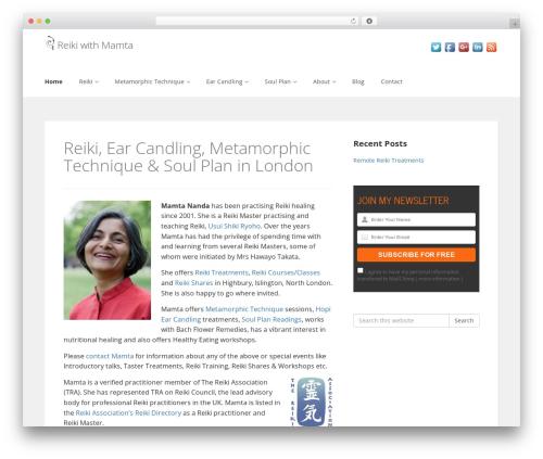 Enlightenment template WordPress - mamtananda.com