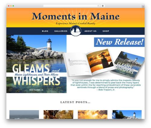 Gallery Pro WordPress theme image - momentsinmaine.com