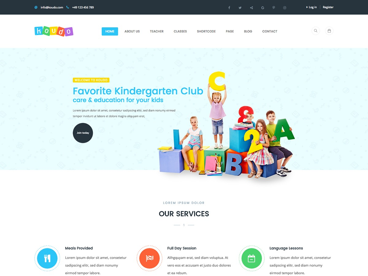 Koudo template WordPress