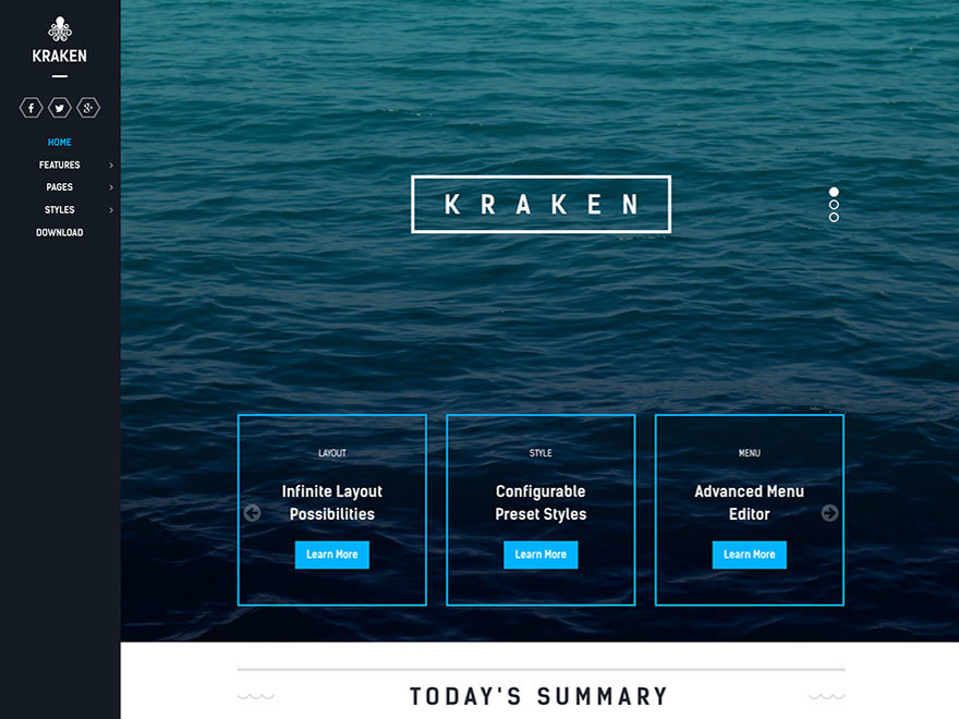Kraken WordPress theme
