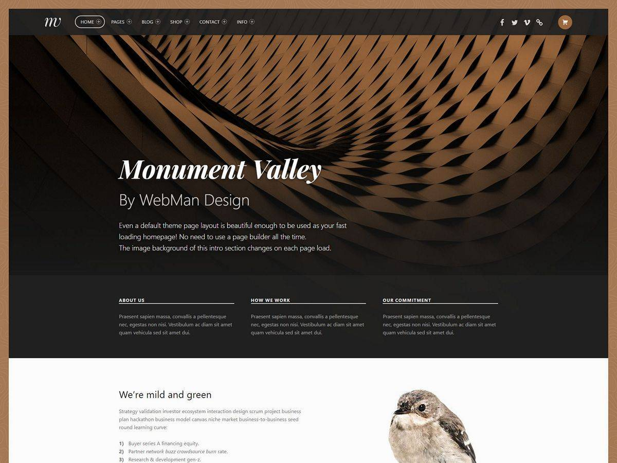 Monument Valley personal WordPress theme