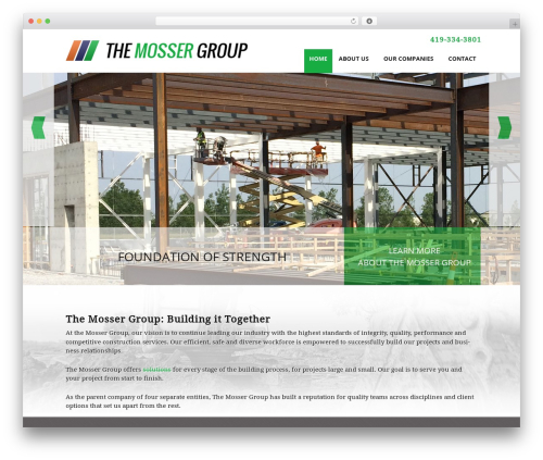 Mosser Group WordPress theme design - mossergroup.com
