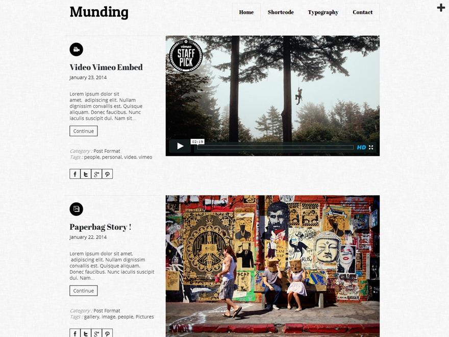 Munding Lite free WP theme