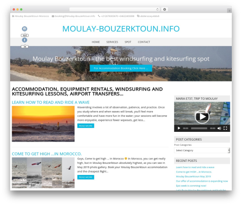 NatureSpace best free WordPress theme - moulay-bouzerktoun.info