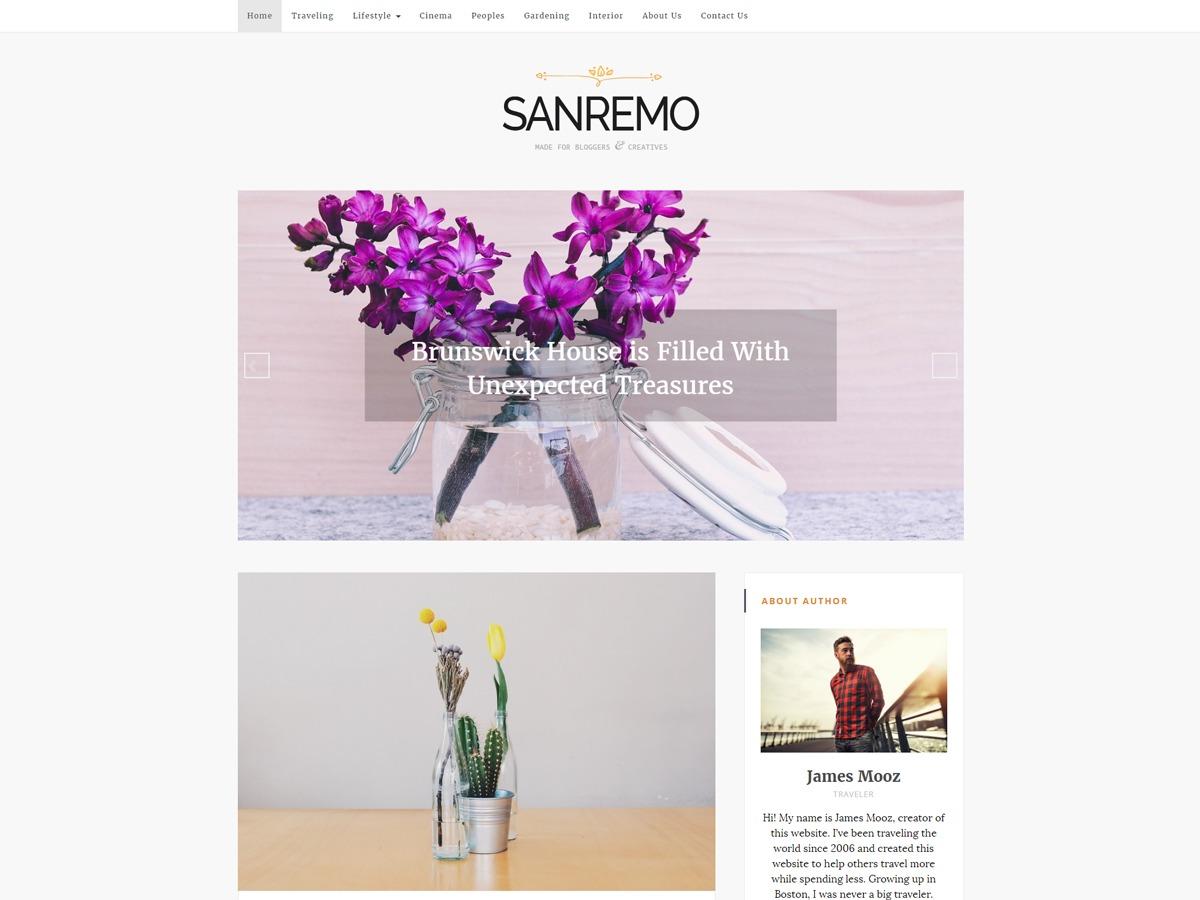 Sanremo WordPress blog theme