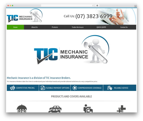 tic WordPress template - mechanicinsurance.com.au