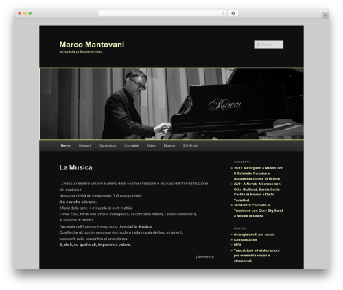 Twenty Eleven WordPress template free - marcomantovani.name