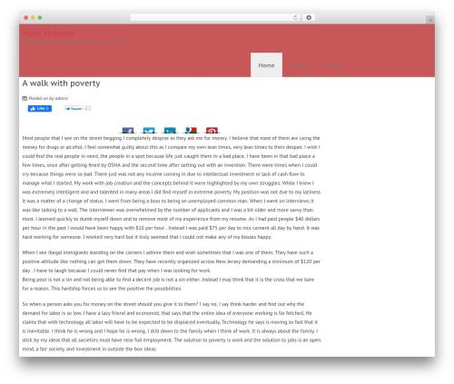 Wimpie Lite best free WordPress theme - marknejmeh.com