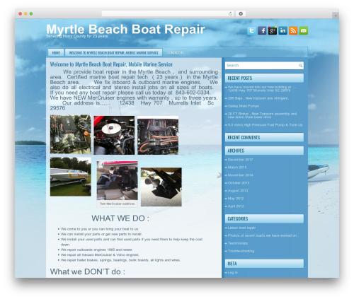 WordPress website template boating - myrtlebeachboatrepair.com