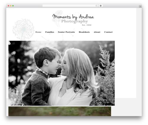 WordPress website template Cassia - momentsbyandrea.com