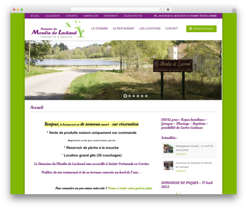 WordPress website template Hotec - moulin-de-lachaud.com