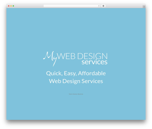 WP template siteChisel Theme - mywebdesignservices.com