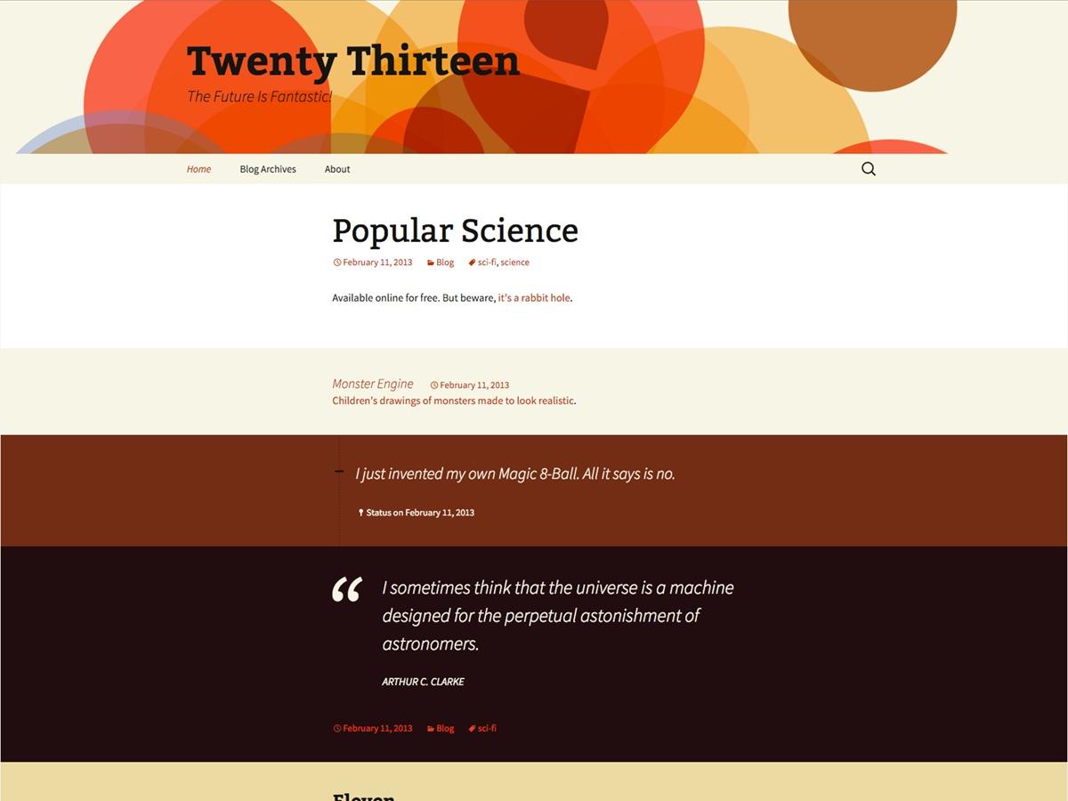 WP theme Twenty Thirteen Child 02