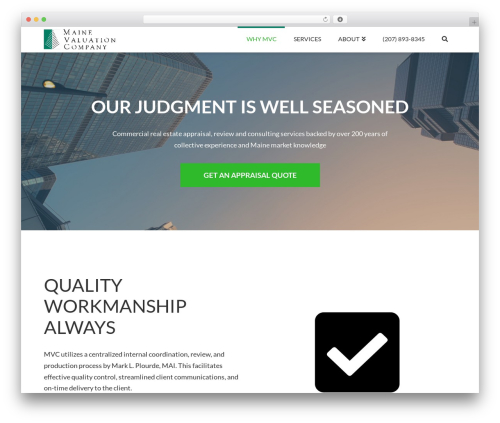 X business WordPress theme - mainevaluation.com
