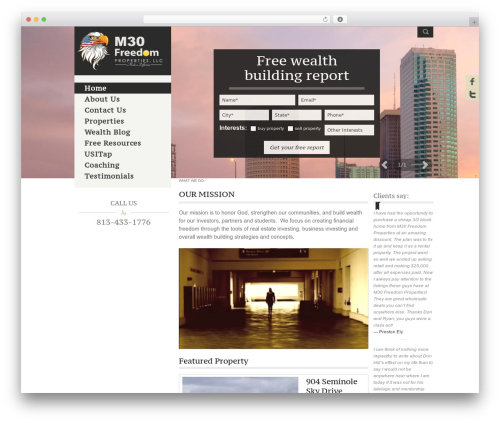 Adept style WP template - m30freedom.com