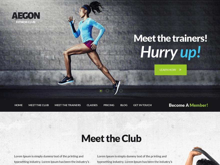 aegon-child gym WordPress theme