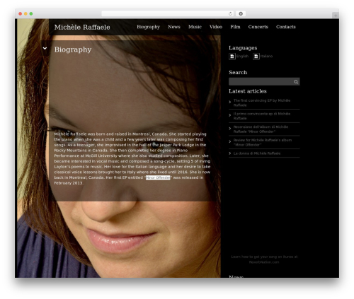 Best WordPress template Black Label - micheleraffaele.com