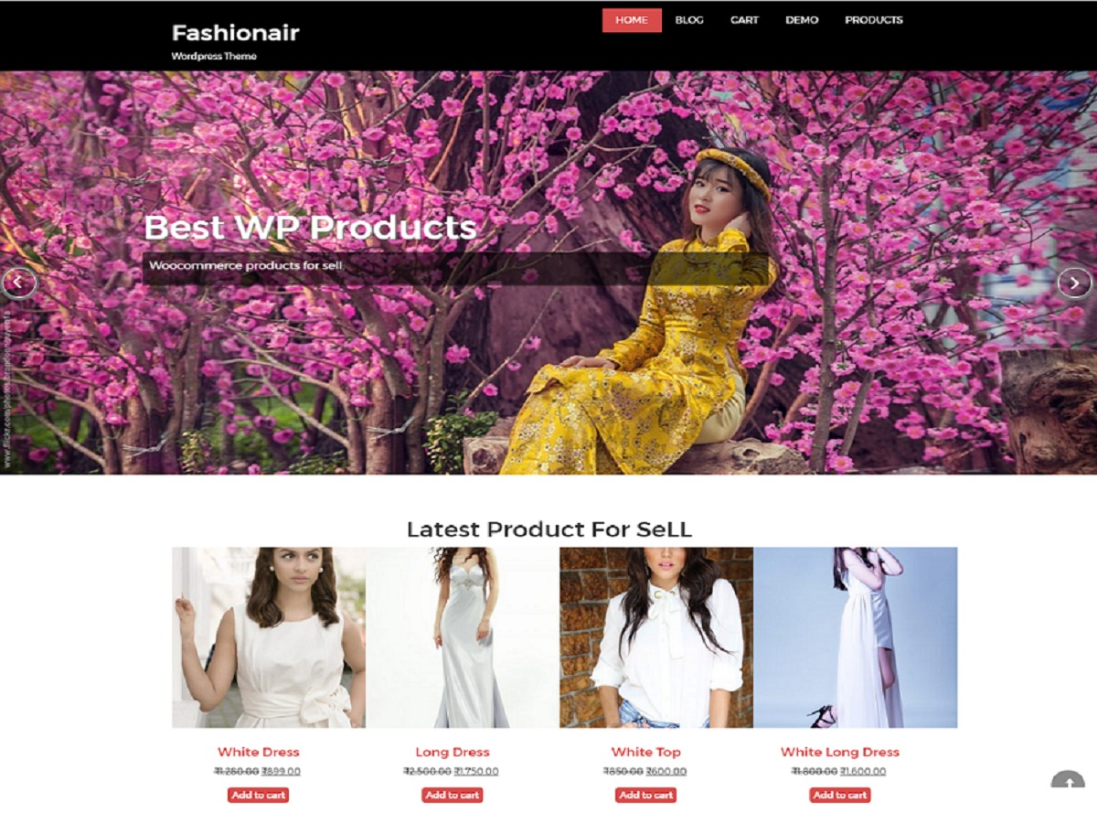fashionair company WordPress theme