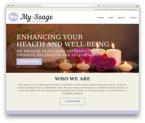 Jupiter WordPress website template - myssagebyvikki.com