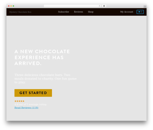 Kodax WordPress theme design - mysterychocolatebox.com