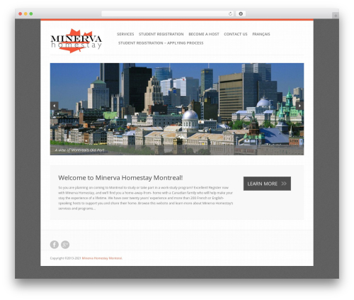 Revolution WordPress template - minervahomestay.com