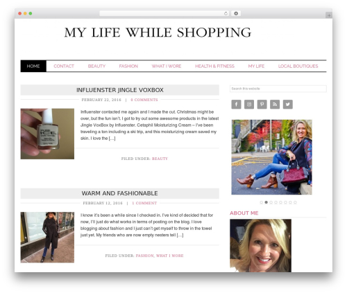 Runway Pro premium WordPress theme - mylifewhileshopping.com