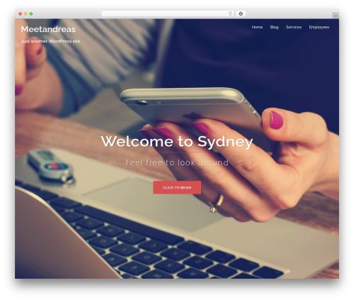 Sydney top WordPress theme - meetandreas.com