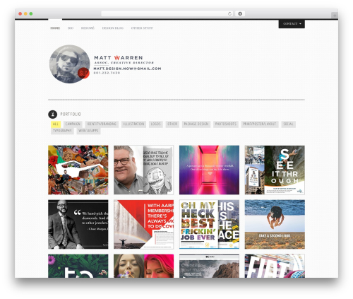 Theme WordPress Yin and Yang - mattwarrengraphicdesign.com
