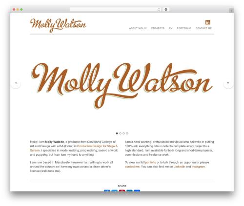 Themify Agency top WordPress theme - mollywatson.me