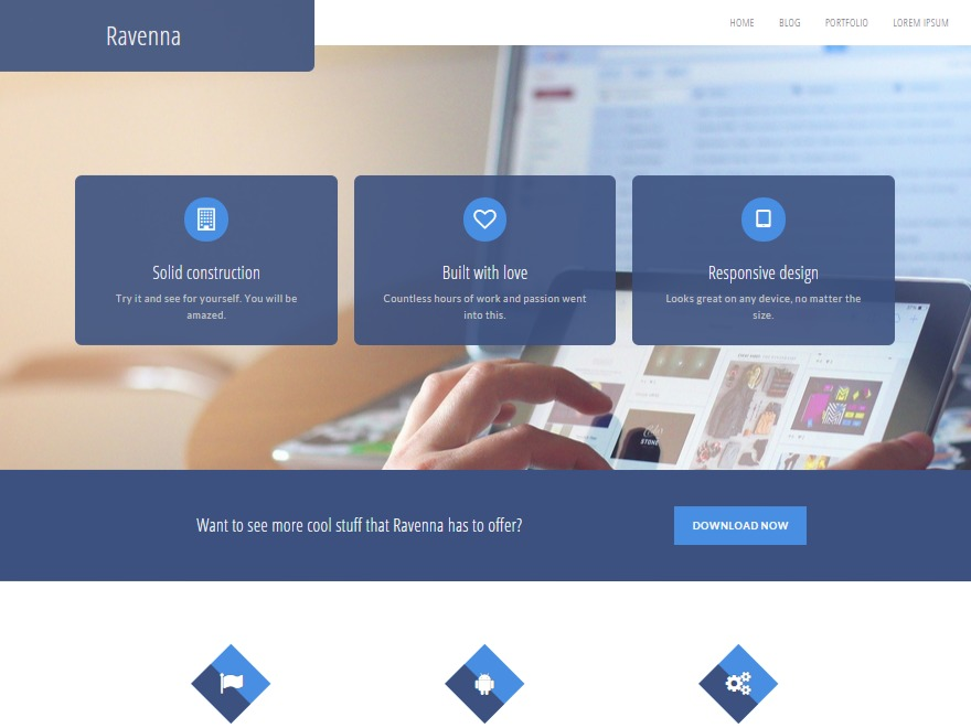 WordPress template Ravenna Child