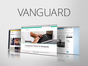 WordPress template Vanguard