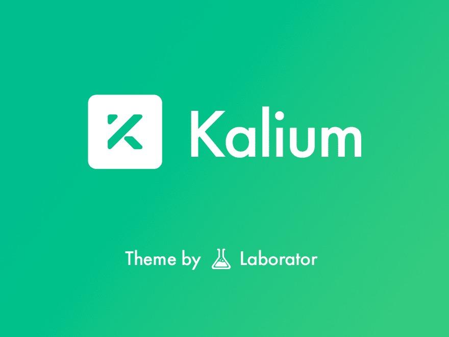 WordPress website template Kalium Child