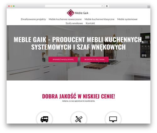 Zerif Lite theme WordPress free - meblegaik.pl