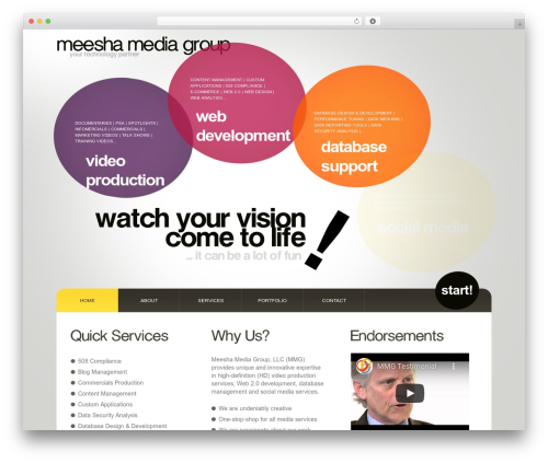 Best WordPress template WordPress Theme Number - meesha.net/CMS