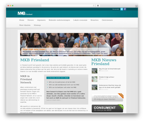 Best WordPress theme Modular - mkb-in-friesland.nl