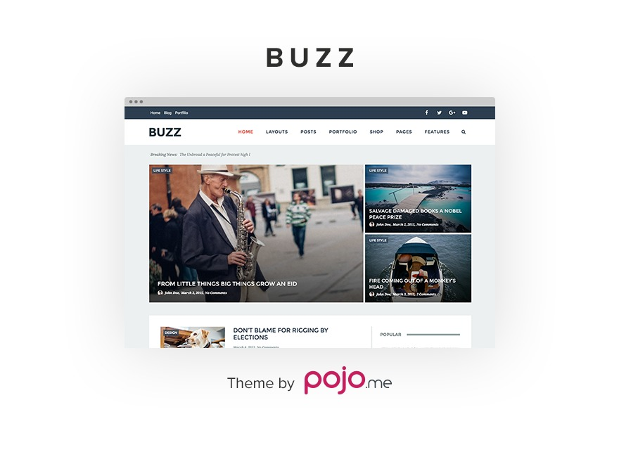 Buzz WP template