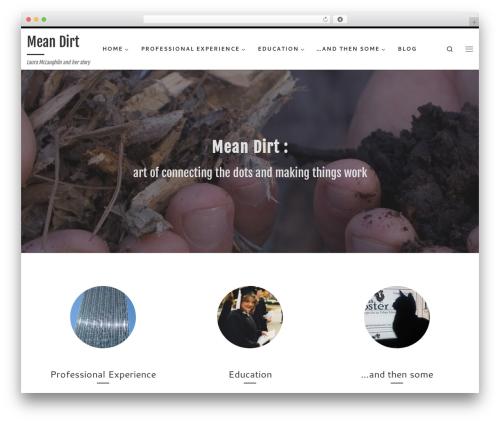 Customizr free WordPress theme - meandirt.com
