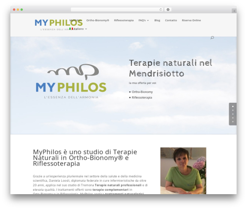 Divi massage WordPress theme - myphilos.ch