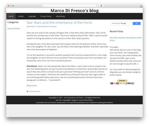 GeneratePress WordPress theme download - marcodifresco.com