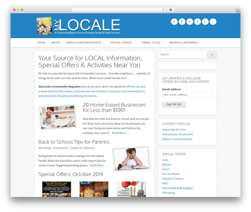Icy WP template - mylocalemag.com